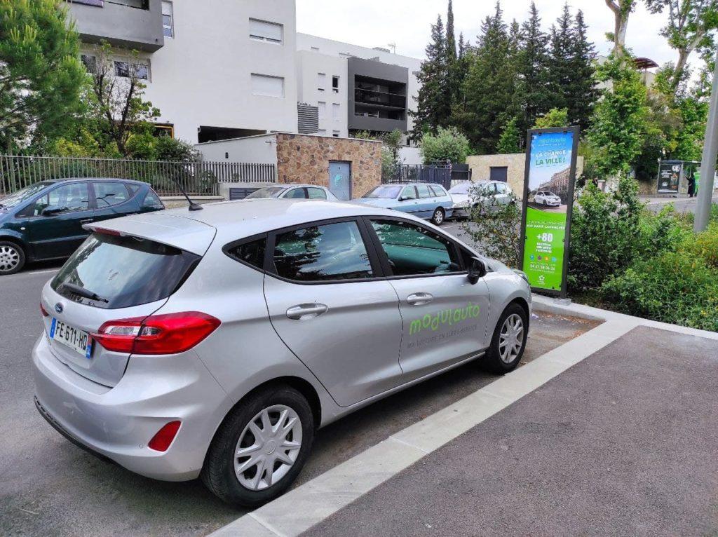 Station Tonnelles Montpellier Modulauto autopartage